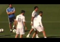 Gareth Bale owns Cristiano Ronaldo in training & then humiliates with a nutmeg