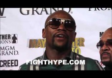 """FLOYD MAYWEATHER GIVES PASSIONATE SPEECH AT LAST FINAL PRESS CONFERENCE: """"I'M THE BEST AT THIS"""""""