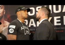 INTENSE! – ANTHONY JOSHUA v JOSEPH PARKER – HEAD TO HEAD @ PRESS CONFERENCE / JOSHUA v PARKER