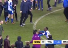 Sergio Aguero hits Wigan fan after FA Cup loss